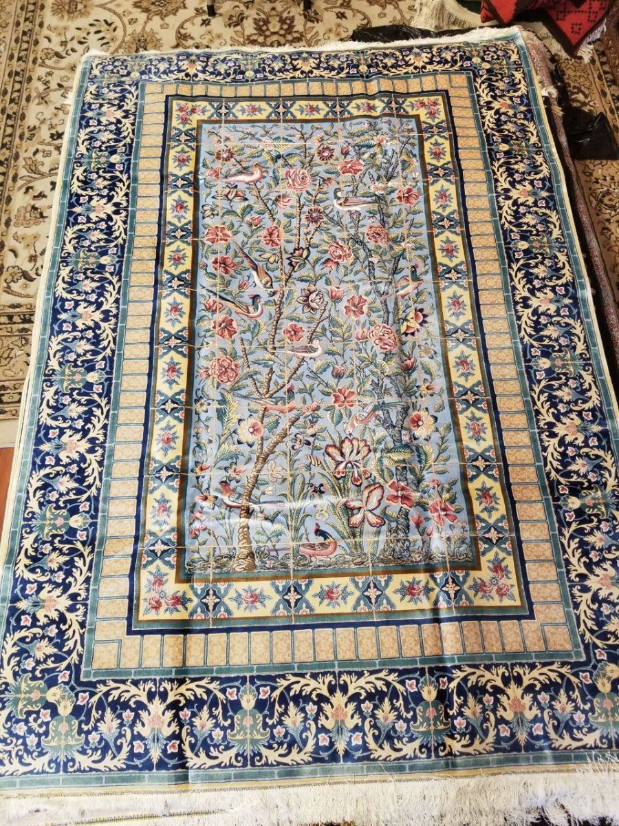 Persian Hand Loom Silk Rug 177