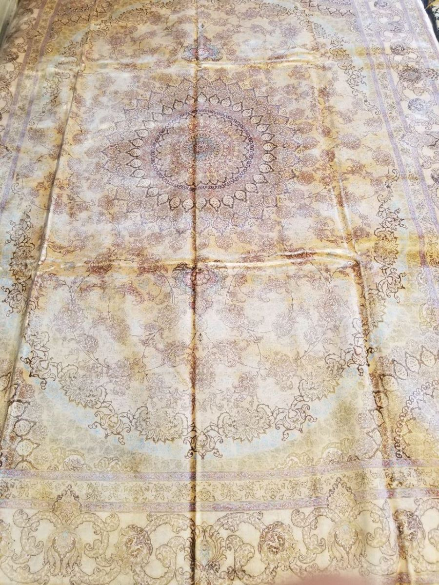 Persian Hand Loom Silk Rug 200
