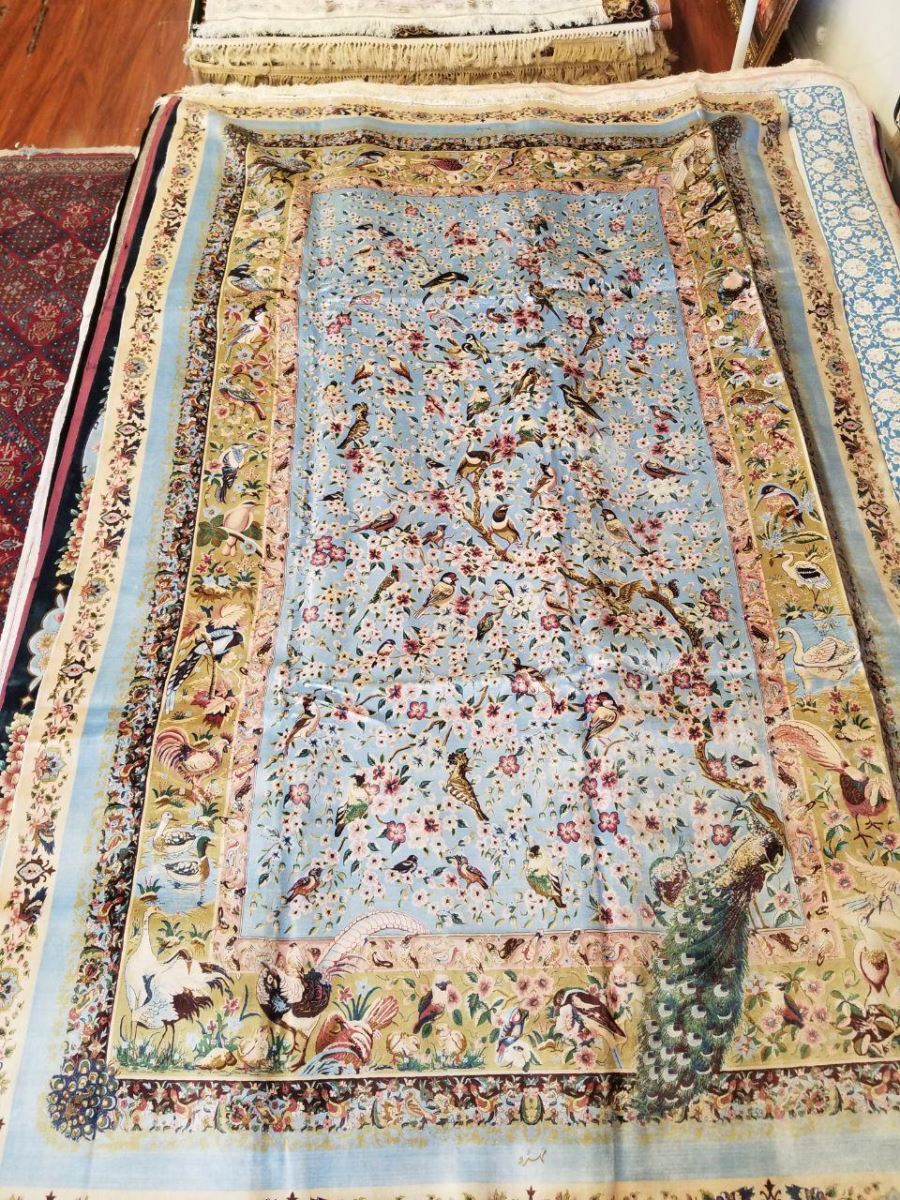 Persian Hand Loom Silk Rug 178
